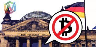 immagine bandiera tedesca e bitcoin