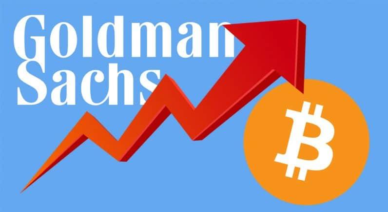 goldman sachs a sperimentare con il commercio bitcoin)