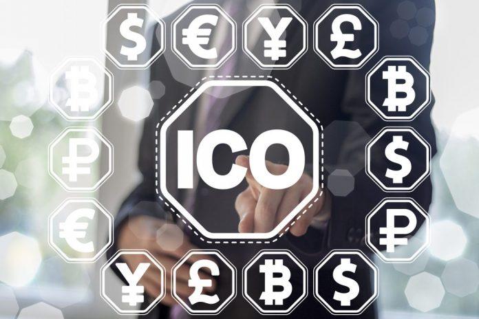 Foto di crypto attorno alla parola ICO