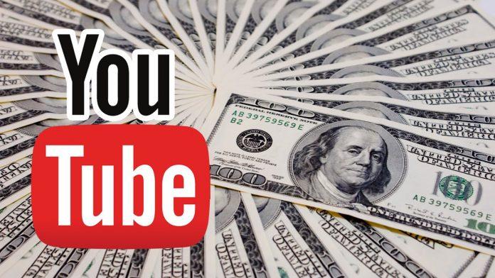 Immagine di soldi e youtube