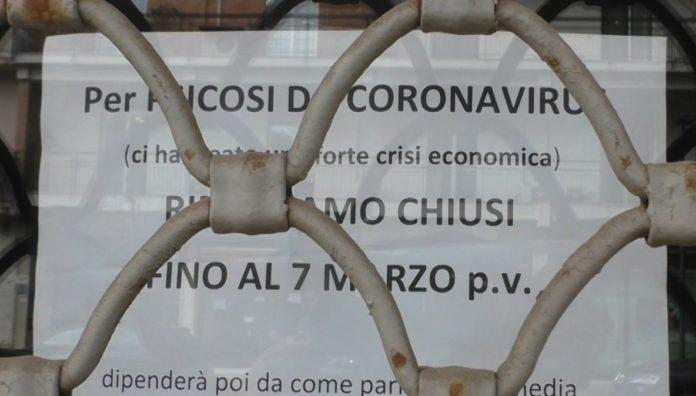 psicosi coronavirus cartelli