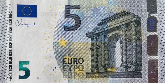 5 euro firma lagarde christine