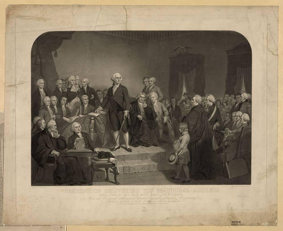 giuramento presidente USA primo