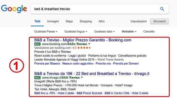 costi pubblicità su google prima posizone