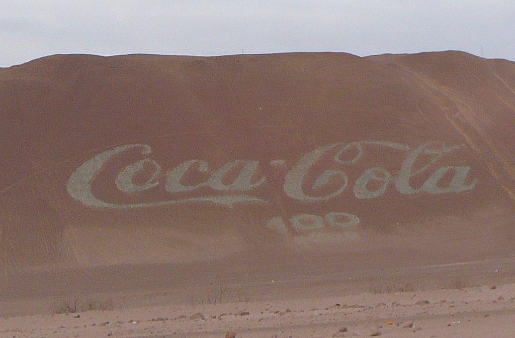 logo coca cola più grande del mondo