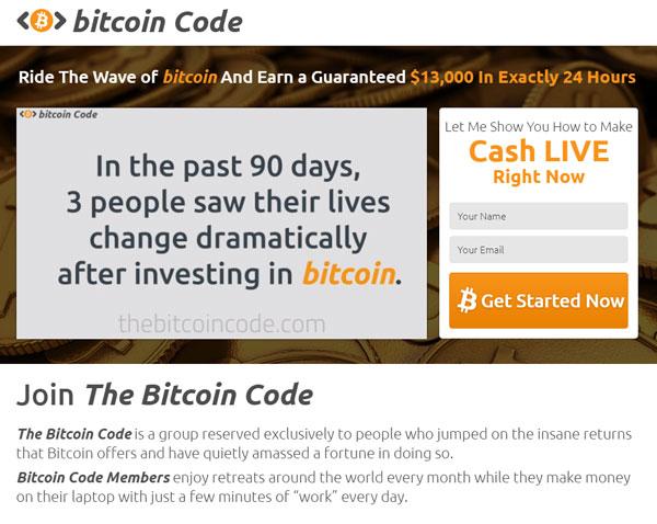 bitcoin code come funziona la truffa