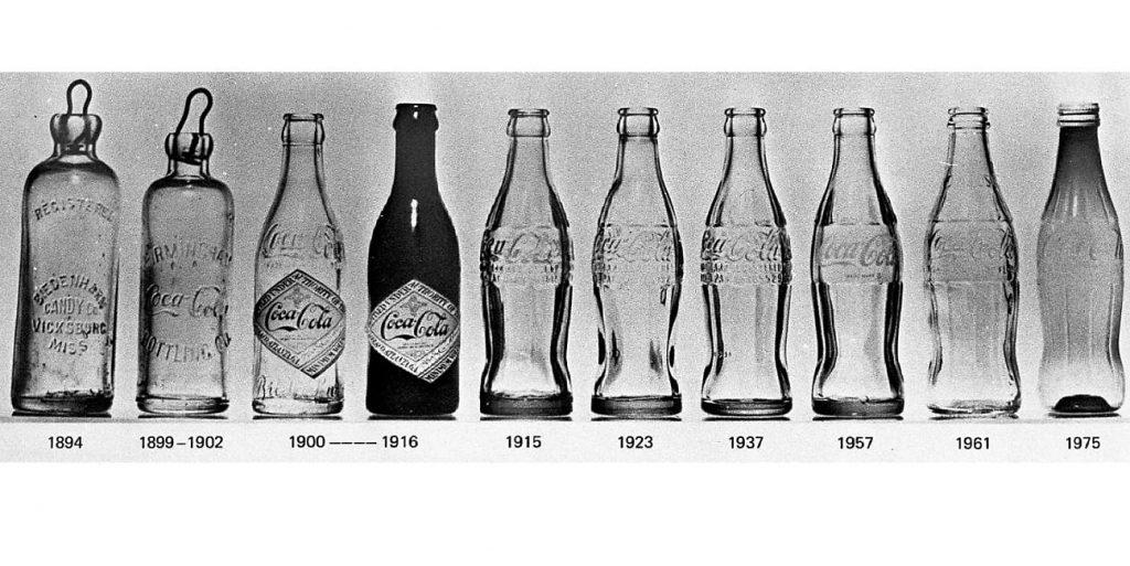 evoluzione bottiglia coca cola