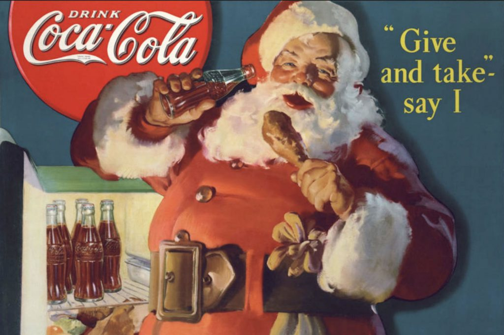 santa claus marketing coca cola
