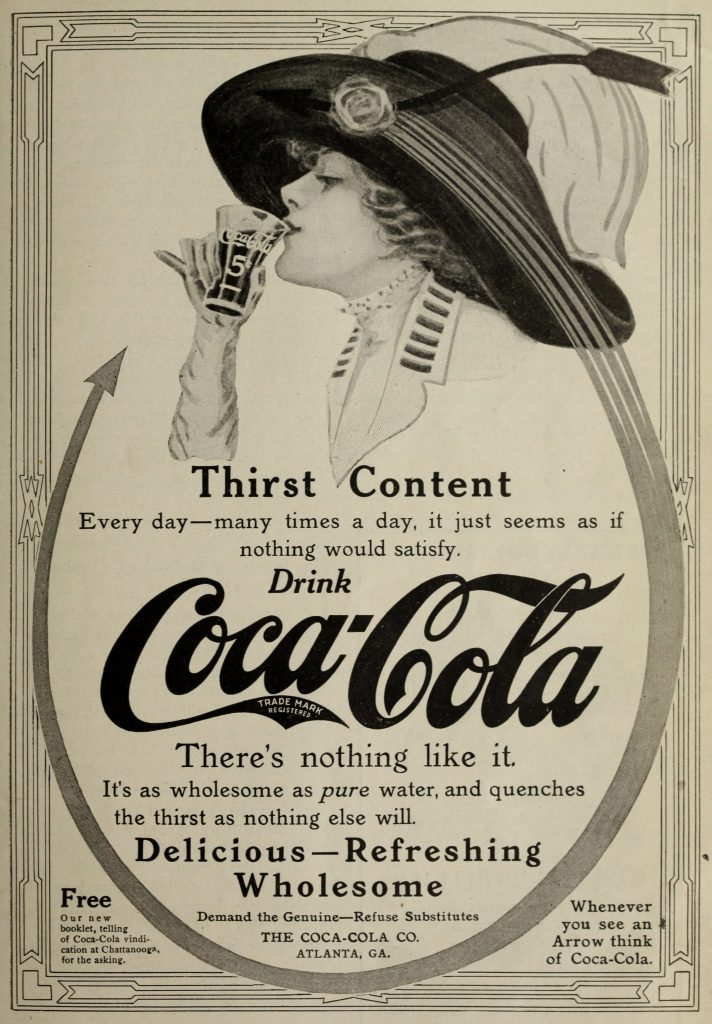 coca cola marketing antico